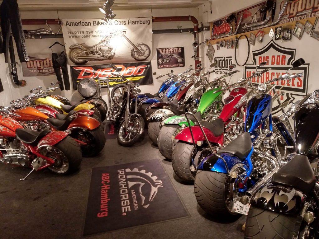 ABC Hamburg - Händler für Big Dog & American Ironhorse Motorcycles - Europas größter & wohl bekanntester Händler von auserwählten Choppern